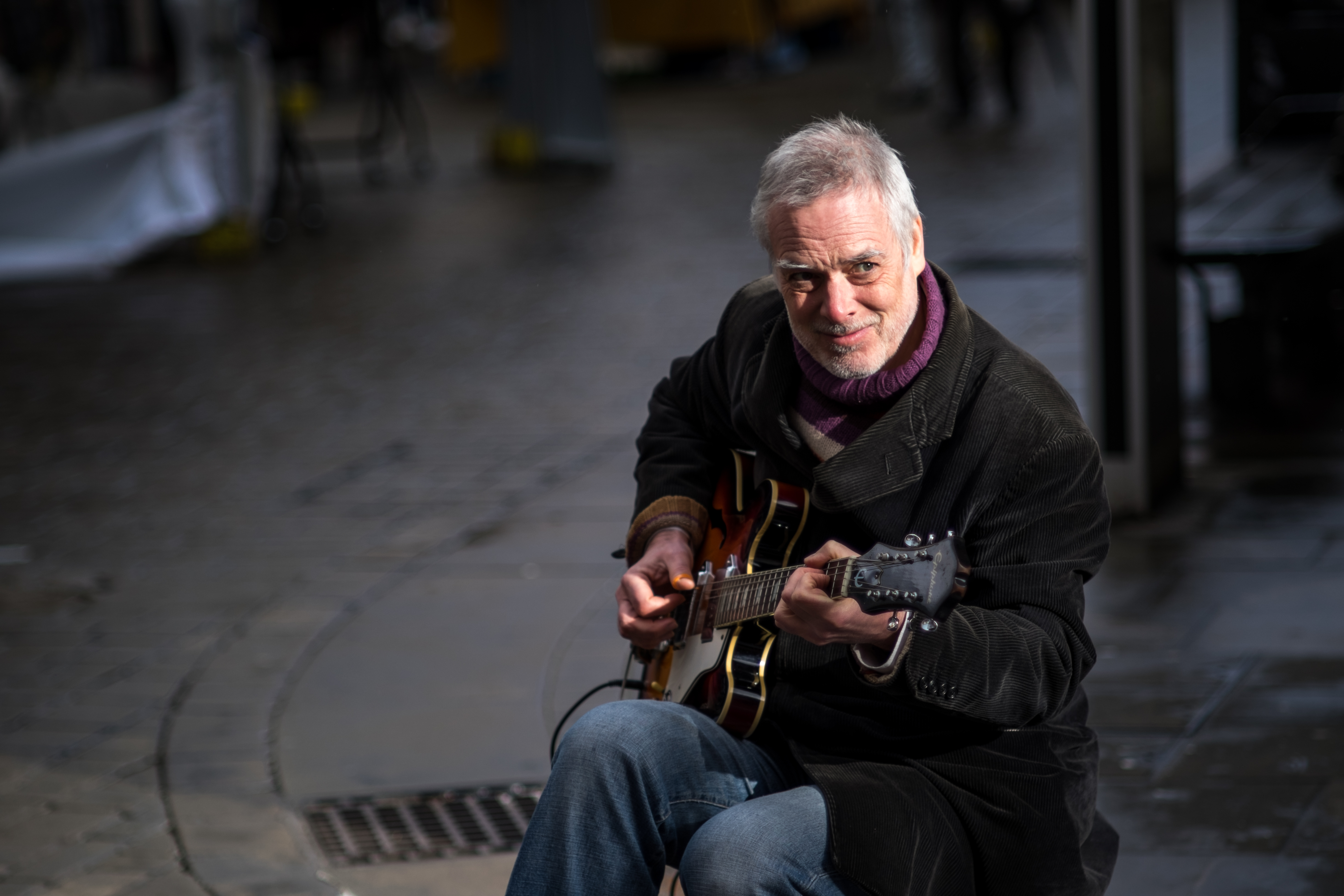 Busking in Winchester